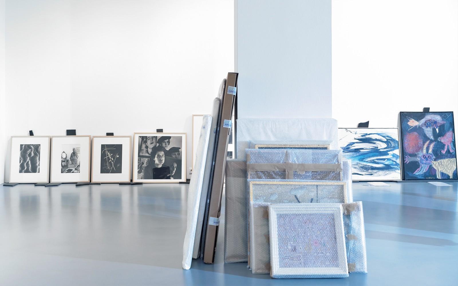 14 Aufbau der Ausstellung Befreite Moderne