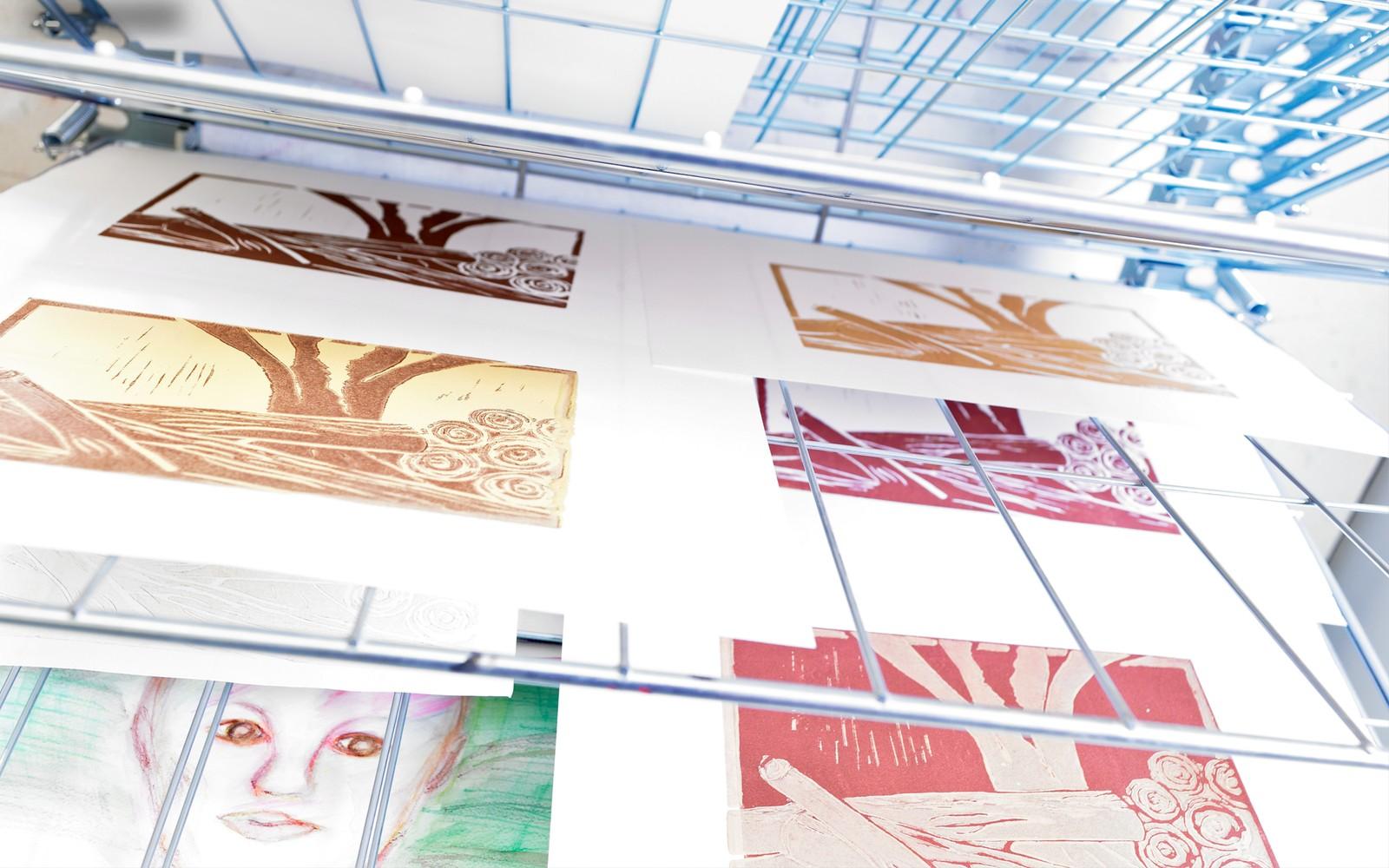29 Linolschnitte aus der Druckwerkstatt